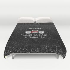 Killer Cats Are Watching Duvet Cover
