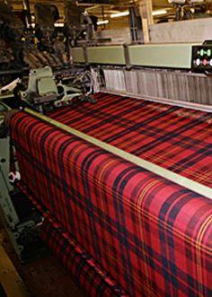 Tartan on Loom at mill in Scotland