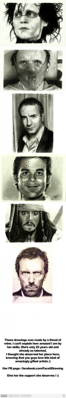 Amazing realistic drawings !