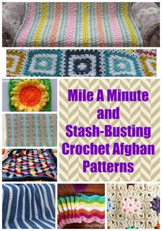 Busy crocheters and yarn hoarders, get excited! These 15 Mile-a-Minute and Stash-Busting Crochet Afghan Patterns are perfect for people that don& have a ton of time or have a yarn stash that you want to use up. Scrap Yarn Crochet, Easy Crochet Blanket, Crochet For Beginners Blanket, Crochet Quilt, Crochet Blankets, Crochet Pouch, Quick Crochet Patterns, Fast Crochet, Chunky Crochet