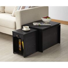 Furniture of America Propel Contemporary 2-in-1 Black Finish Mobile Extension End Table - Overstock™ Shopping - Great Deals on Furniture of America Coffee, Sofa & End Tables