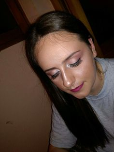 #makeup #softpink #eyelashes  #highlight #pinklips #NYX #pigments #pretty #cousin