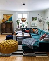 Nice Comfy Living Room Decor Ideas To Make Anyone Feel Right At Home. room ideas bohemian Comfy Living Room Decor Ideas To Make Anyone Feel Right At Home Good Living Room Colors, Colourful Living Room, Living Room Color Schemes, Cozy Living Rooms, Home And Living, Small Living, Living Area, Cozy Eclectic Living Room, Colorful Couch