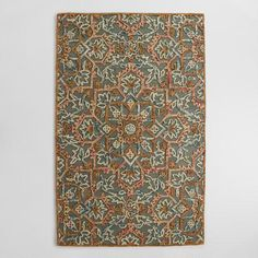 One of my favorite discoveries at WorldMarket.com: Embroidered Floral Tufted Wool Area Rug