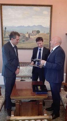 Campobasso ricevuto a Palazzo San Giorgio il console francese a Napoli