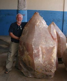 Sean Xenja of Dynamic Energy Crystals with an amazing Brazilian Earth Keeper crystal.