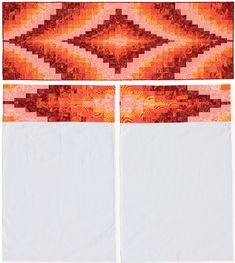 """Bargello Bed Runner and Banded Pillowcases"" from the book More Twist-and-Turn Bargello Quilts by Eileen Wright"