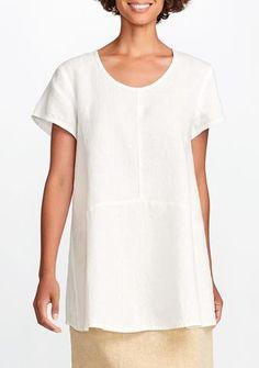 69d4642ebb2e Image result for womens handkerchief white linen short sleeve tunic Linen  Shorts