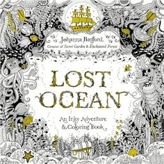 Lost Ocean An Inky Adventure by Johanna Basford New Coloring Book & 12 Pencils