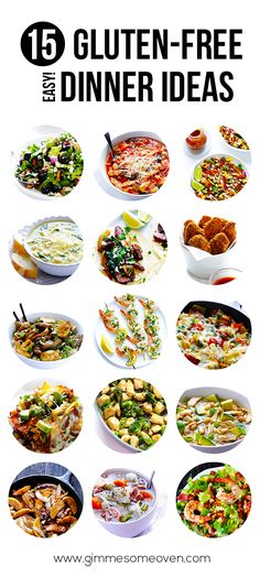 15 Gluten-Free (Easy!) Dinner Ideas | gimmesomeoven.com #dinner #glutenfree #gf