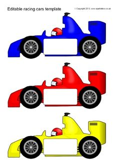 Transport Themed Editable Clroom Display Resources Printables Racing Car Templates