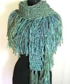 This The Fringe Scarf Crochet Pattern PDF - SUPER EASY - permission to sell what you make is just one of the custom, handmade pieces you'll find in our patterns & how to shops. Crochet Fringe, Crochet Scarves, Knit Crochet, Crochet Hats, Crochet Clothes, Lion Brand, Knitting Patterns, Crochet Patterns, Crochet Ideas