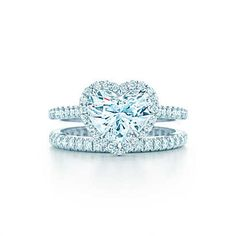 I know Tiffany's is extremely expensive, but come on, look at that! Tiffany Soleste® Heart Engagement Rings | Tiffany & Co.