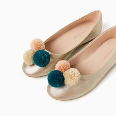 Image 2 of POMPOM BALLERINAS from Zara