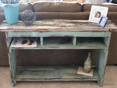 From Barn to Sofa Table