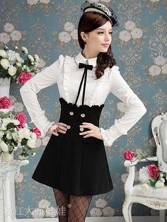 Mango Doll - Black and White One Piece Dress , $64.99 (http://www.mangodoll.com/new-arrivals/black-and-white-one-piece-dress/)