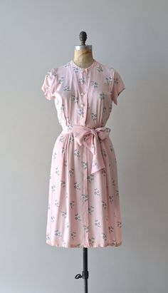 Ode to May dress vintage 1940s dress floral rayon by DearGolden
