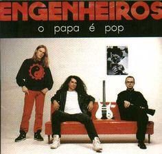 """""""O Papa É Pop"""", cover art by Engenheiros do Hawaii."""