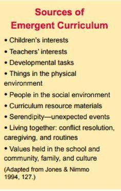 Sources of Emergent Curriculum