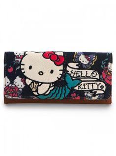 """Hello Kitty Mermaid"" Wallet by Loungefly (Blue) | Inked Shop #inked #inkedshop #inkedmagazine #purse #bag #wallet #hellokitty"