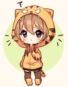 Fanart - angry tiger by hyanna-natsu on deviantart tiger girl, otaku, kawai Manga Anime, Anime Body, Fanarts Anime, Manga Girl, Anime Art, Chibi Kawaii, Cute Anime Chibi, Anime Kawaii, Kawaii Art