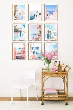 Arts And Crafts Kindergarten Mamma Mia, Greek Bedroom, Poster Minimalista, Greek Decor, College Dorm Decorations, Girl Room, Room Inspiration, Decorating Your Home, Bedroom Decor