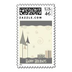 trendy Christmas Postage Stamps