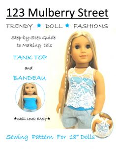 "Tank Top and Bandeau 18"" Doll Clothes"