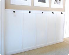 Wainscoting DIY. Going to put something similar to this in our bedroom....I'll make sure to post before and after pictures.