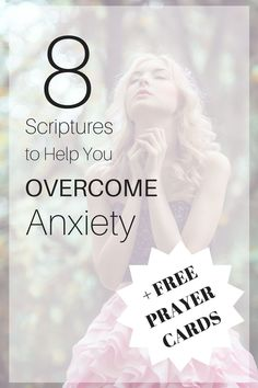 8 Scriptures to Help You Overcome Anxiety! + Free Prayer Cards! Learn how to use the Bible to overcome anxiety! #faith #bible #prayer http://www.allthatmotivates.com/overcome-anxiety