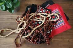 Authentic Wood Beads / Natural Rounded Wood Beads