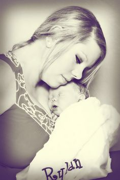 Mommy and Baby Newborn Photo Photography