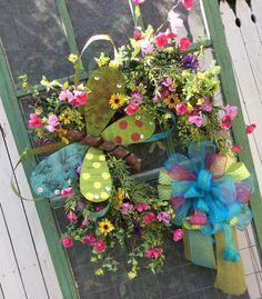 Summer Wreath Butterfly Wreath Whimsical Wreath Everyday by Keleas