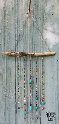 Items similar to MOBILE wind bell garden decor home decor on Etsy Beach Crafts, Kids Crafts, Diy And Crafts, Craft Projects, Arts And Crafts, Cork Crafts, Bottle Crafts, Carillons Diy, Dyi