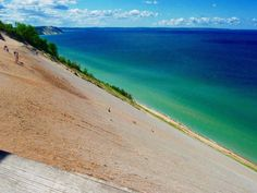 Sleeping Bear Dunes, Michigan  ...I might live here but I still recognize it's beautiful places :)
