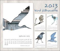 2013-bird-silhouette-calendar