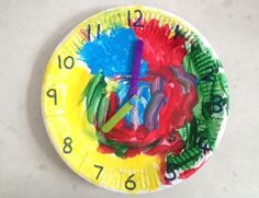 Paper Plate Clock - My Kid Craft Good pre k craft for getting familiar with numbers and time