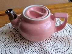 Vintage Hall Pink with Silver Trimmed Spout by LeftoverStuff