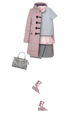 """""""Pink Duffle Coat"""" by yasminasdream ❤ liked on Polyvore featuring Monki, N°21 and Funktional"""