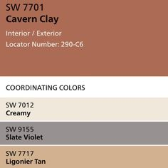 Incorporating Cavern Clay into Your Home And Office Space Office Wall Colors, Office Color Schemes, Kitchen Colour Schemes, Paint Color Schemes, Kitchen Wall Colors, House Color Schemes, Bedroom Color Schemes, Warm Bedroom Colors, Warm Paint Colors