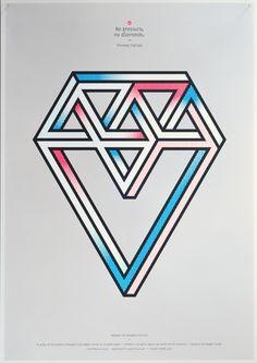 No pressure, no diamonds. Diamond - Magpie Studio #posters