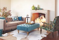 Marcelle Tufted Ottoman at Cost Plus World Market >> #WorldMarket Glasgow Fog Collection