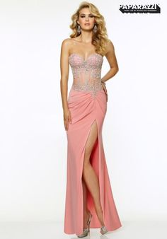 2015 Mori Lee Corset Bodice Prom Dress 97020