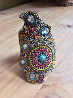 Beaded Cuff Bracelet Tribal Bracelet Boho Bracelet by perlinibella, $115.00