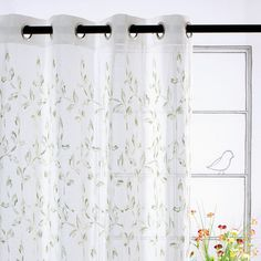 Green Vine Curtain Panels.