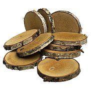 Discos de madera troncos abedul