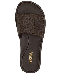 cb3717da37aa MICHAEL Michael Kors MK Shower Slide Sandals Shoes - Sandals   Flip Flops -  Macy s