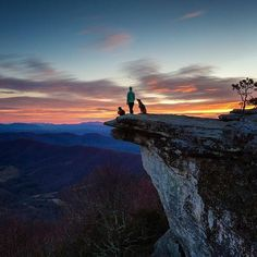 """""""I'm not going to lie winter exploring is not always easy"""" says @christinhealey from McAfee Knob in Virginia.""""The hike up to this spot was dark icy and well below freezing with bone-chilling winds at the summit. But views like this for a sunrise all to yourself? Worth a little pain every single time."""" :: Share your journeys and summits with us using #outdoorwomen in your photo captions. (Click the photo to see more on our @outdoorwomen Instagram community!)"""