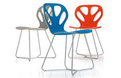 We love the fun colors and modern design of the Maple Chair by Gernot Oberfell and Jan Wertel for Iker for IQMatics.