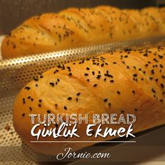 Turkish Bread! Lovely alternative to French bread, and SO delicious! {Gunluk Ekmek} - Jornie.com